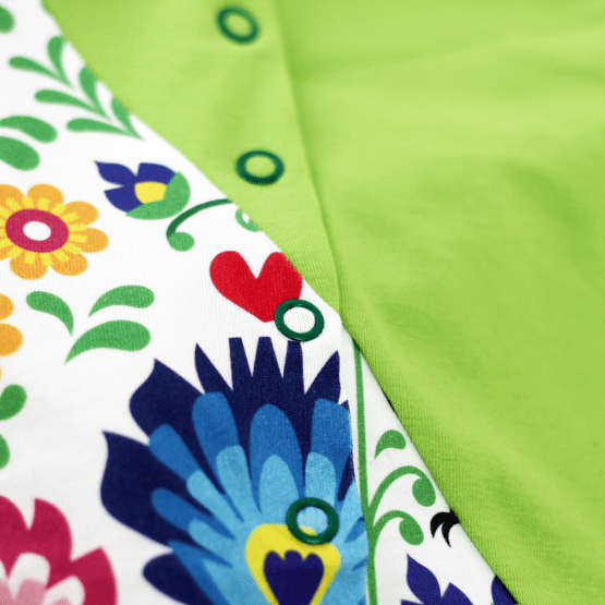 Polish Rooster romper detail