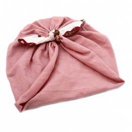 matryoshka bow turban pink