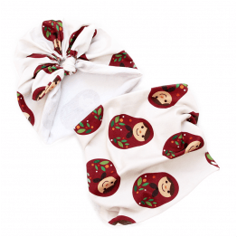 matryoshka bow turban and tube scarf