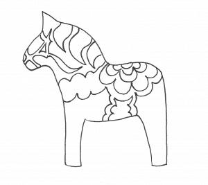 Dala horses sketch