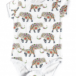 happy elephants bodysuit
