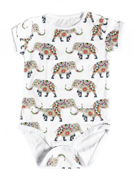 happy elephants bodysuit