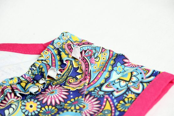 The Paisley onesie detail