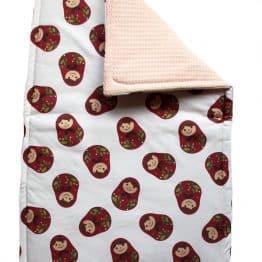 matryoshka baby blanket 50x80
