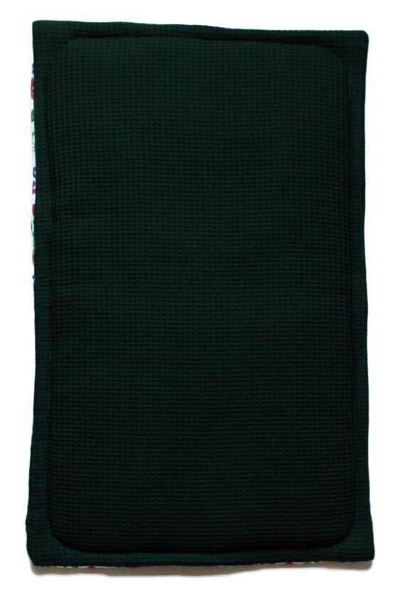 polish rooster baby blanket green waffle