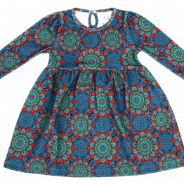 mandala blue dress front