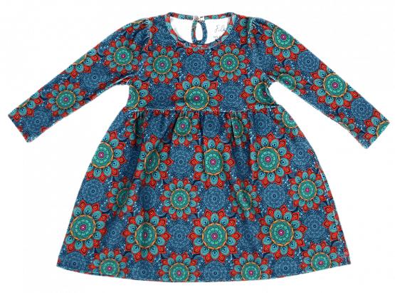 mandala blue dress front