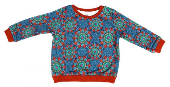 blue mandala sweatshirt front