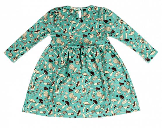 mushroom blue dress back