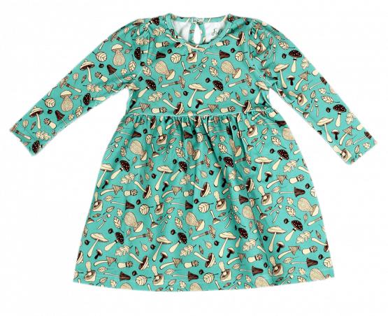 mushroom blue dress front