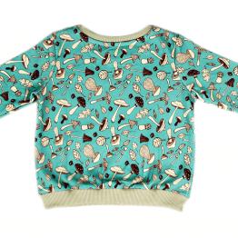 mushroom blue jumper sweatshirt back