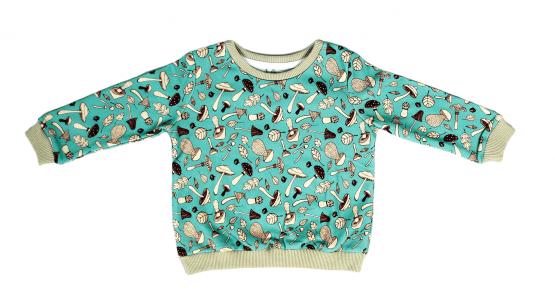 mushroom blue jumper sweatshirt front