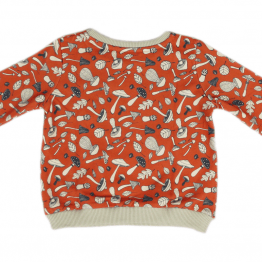 mushroom orange jumper back