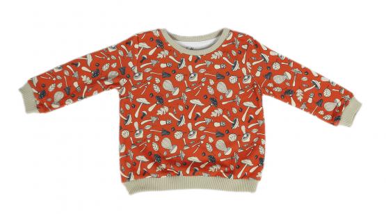 mushroom orange jumper front