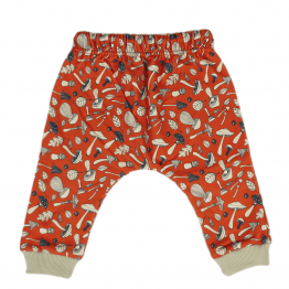 mushroom orange harem pants back