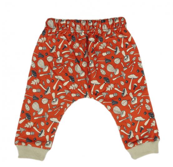 mushroom orange harem pants back