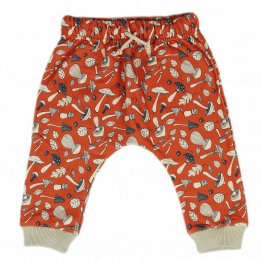 mushroom orange harem pants front