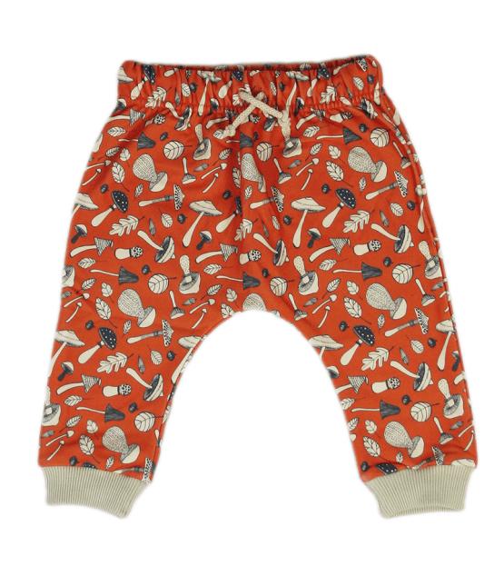 mushroom orange harem pants front