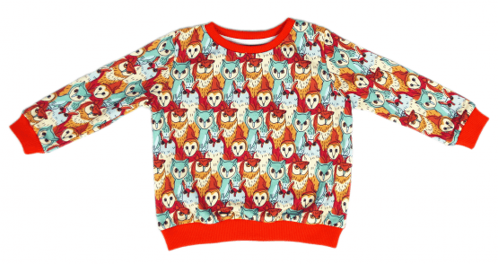 owl's meeting jumper sweatshirt front