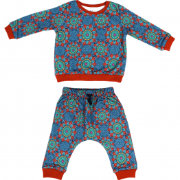 mandala set of sweatshirt and harem pants