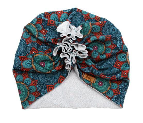mandala blue turban