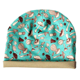 mushroom blue baby hat