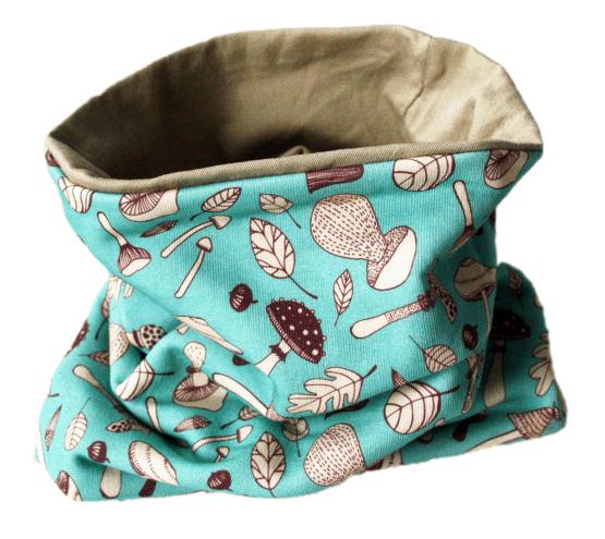 mushroom blue baby tube scarf