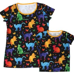 t-shirts with cats folky
