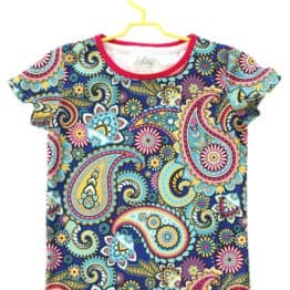 paisley baby t-shirt front