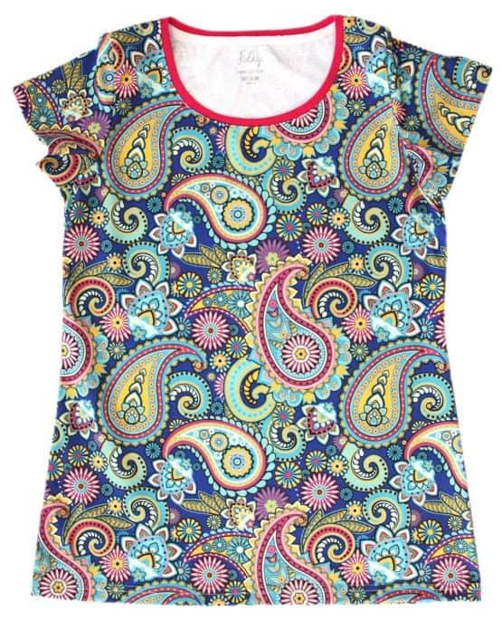 paisley print mama t-shirt
