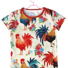 polish rooster print baby t-shirt