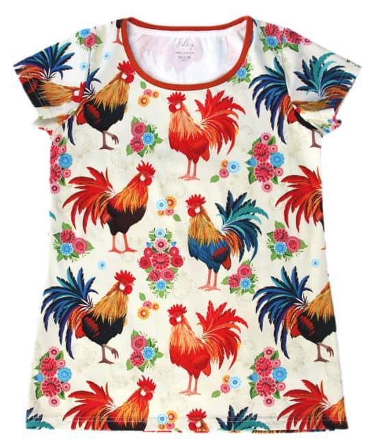 polish rooster mama t-shirt