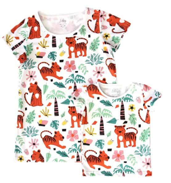 matching t-shirts with tigers folky
