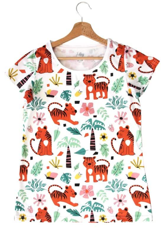 mom t-short with tigers folky