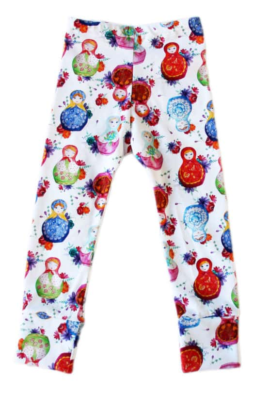 matryoshka baby leggings trousers