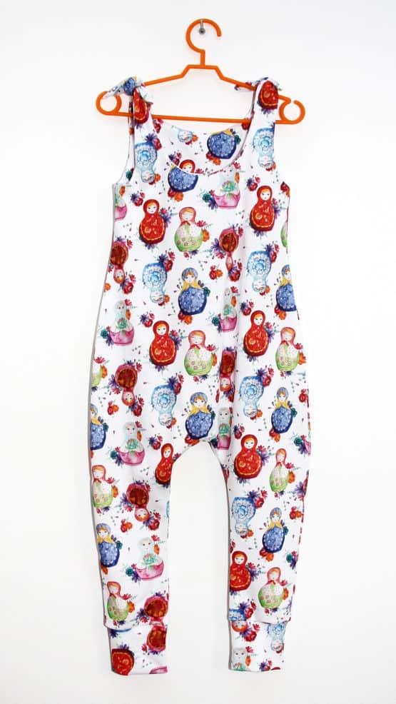 matryoshka baby dungarees rompers overalls