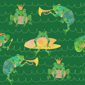 Frogs green 2