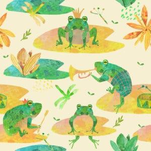 Frogs beige 1