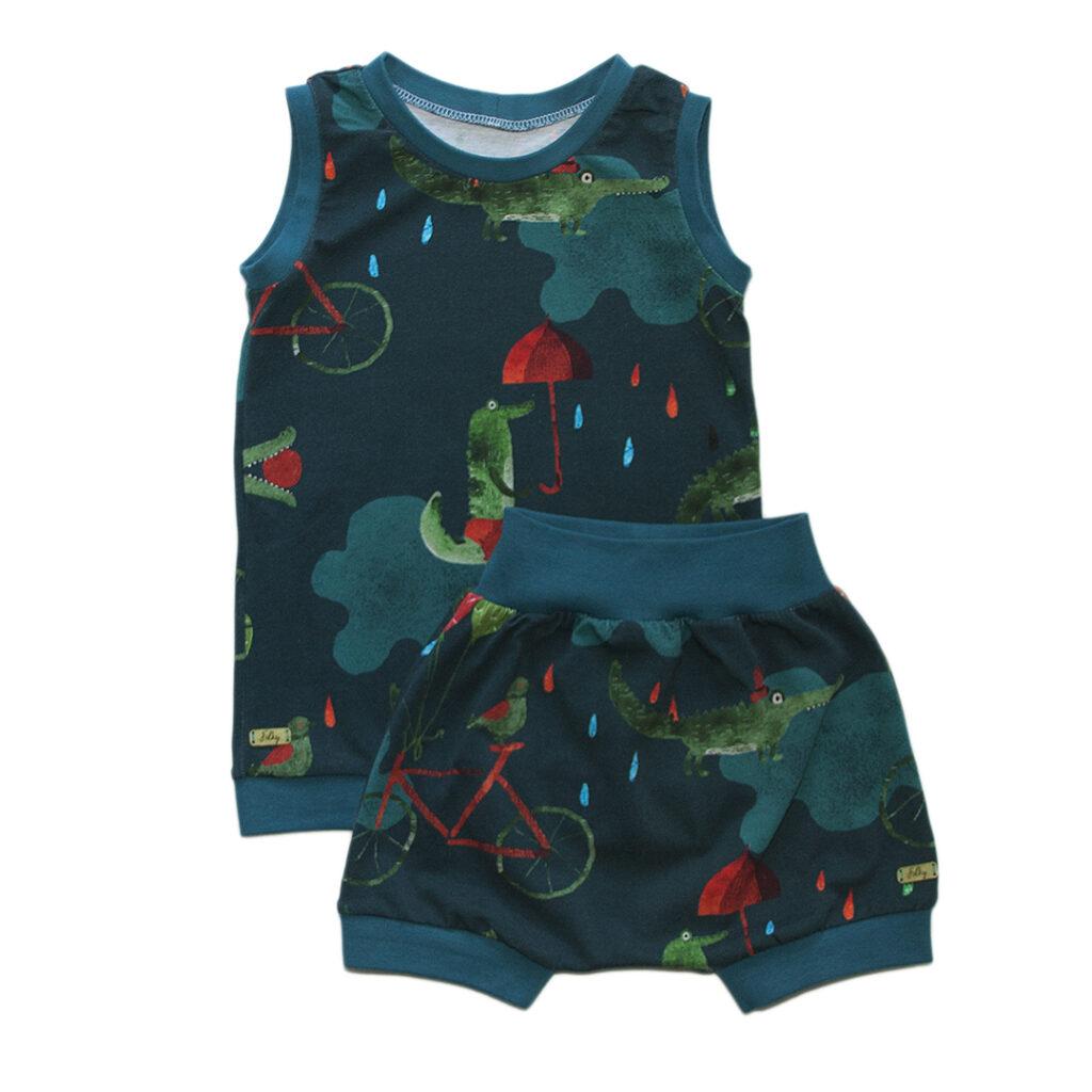 crocodile tank top shorts kids summer