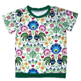 toddler baby t-shirt polish rooster folky