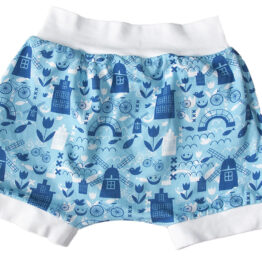 little one baby shorts with dutch print