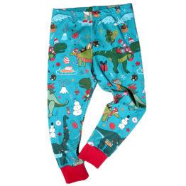 christmas dinos kids leggings
